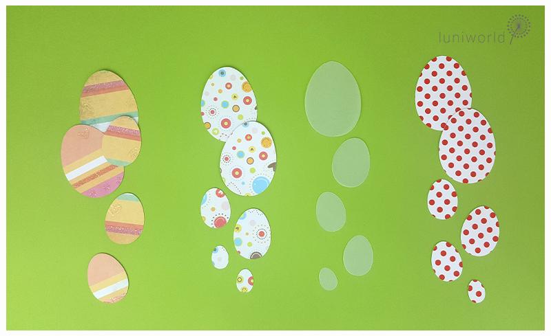 Plotterdatei Eier-Silhouetten
