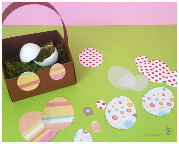 einfache Eiersilhouetten als Schablone