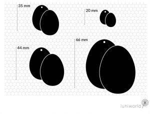Plotterdatei Eier-Silhouetten aus luniworld