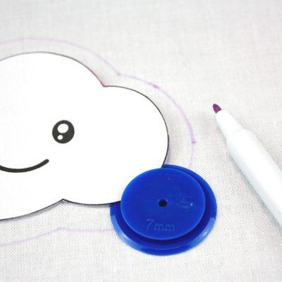 Schablone für Nahtzugabe
