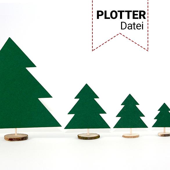Tannenbaum aus Papier als Tischdeko