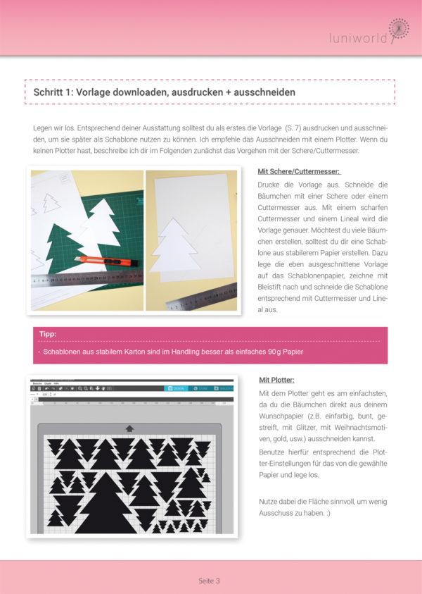 Tannenbaum aus Papier als Tischdeko Anleitung