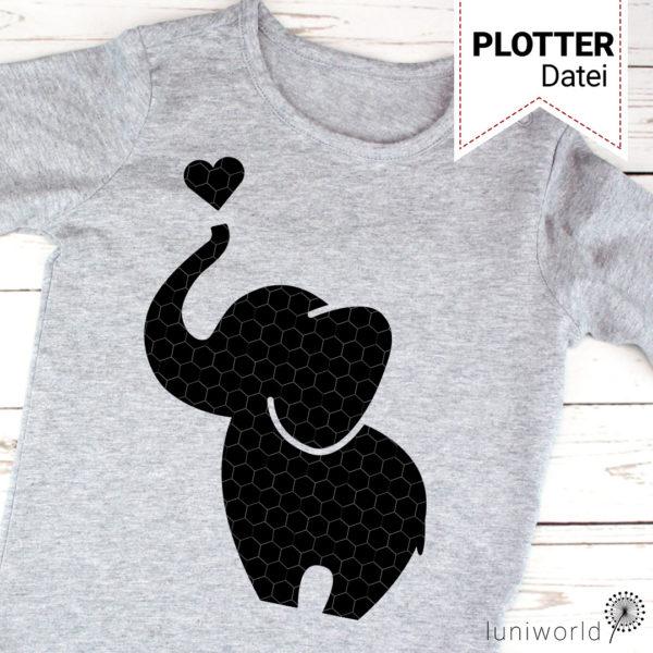 Plotterdatei niedlicher Elefant