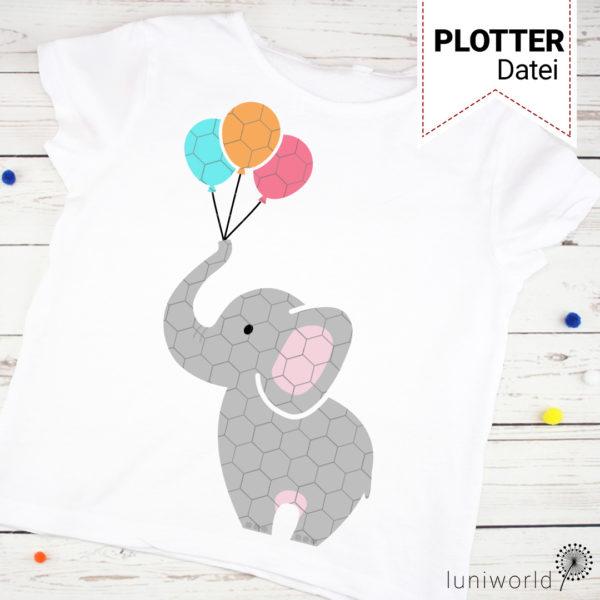 Kleiner, niedlicher Elefant als mehrfarbiger Plott