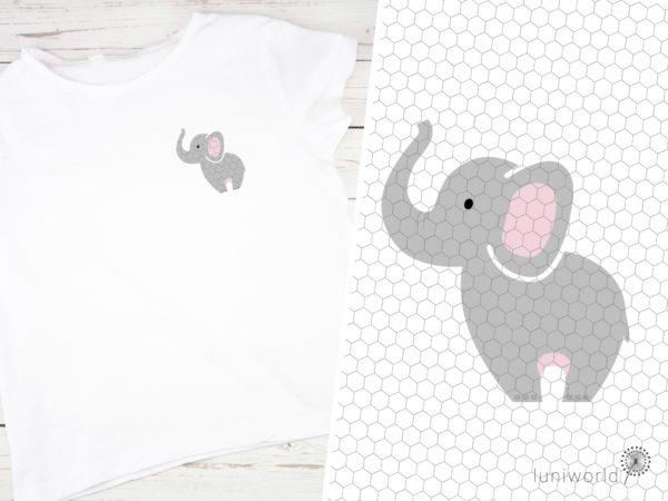 Niedlicher Elefant als Plotterdatei