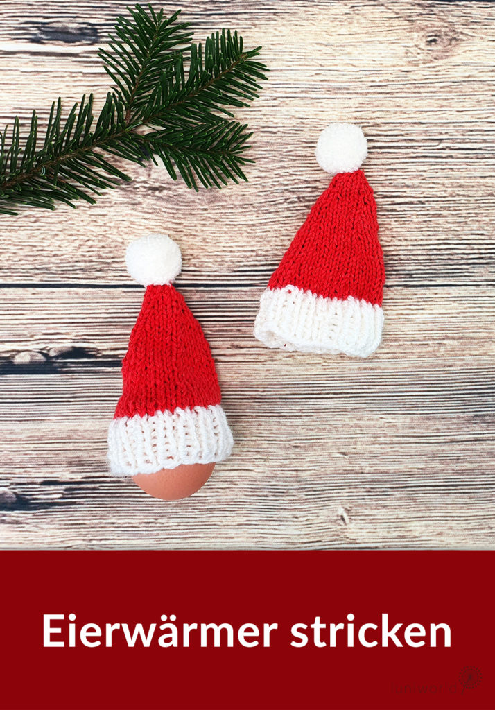 Weihnachtliche Eiermütze stricken