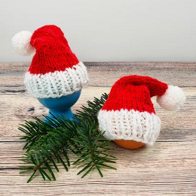 Weihnachtliche Eierwärmer stricken