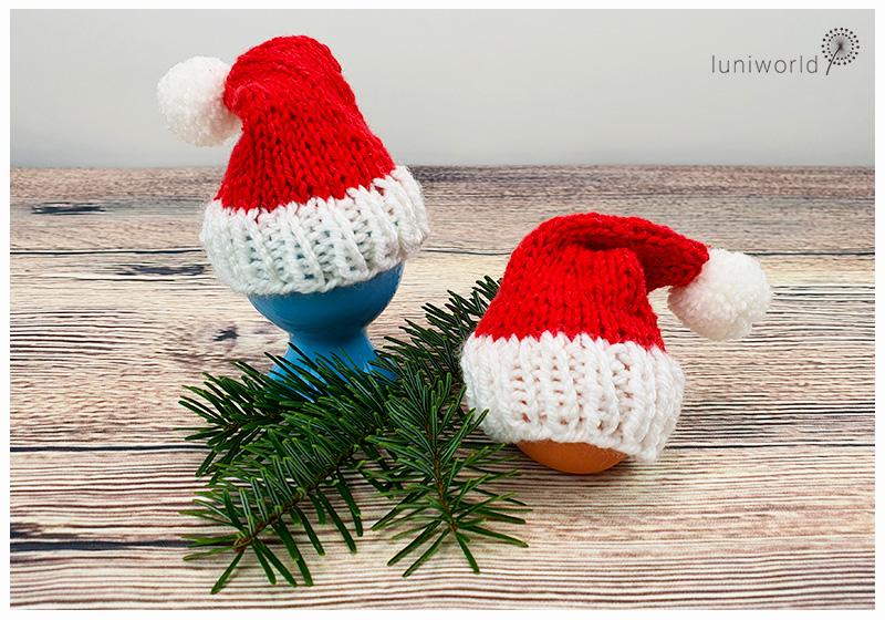 Weihnachtsmütze für Eier